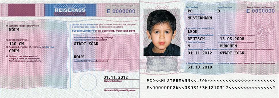Reisepass Für Das Kind Stadt Baden Baden